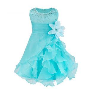 Precioso Vestido de Fiesta Celeste!!Nuevo. talla 4