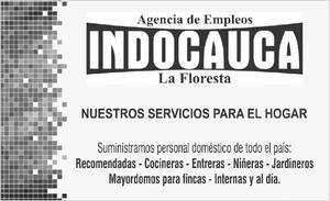 oferta de empleo para domesticas internas - Cali