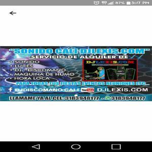 3183948177 ALQUILER DE SONIDO LUCES MAQUINA DE HUMO Y DJ