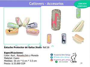 Estuche Protector de Gafas Jirafa Happy Cat Friends