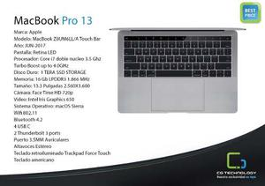 Macbook Pro ¨ Core I7 3.5ghz 16gb Ram Cg Technology