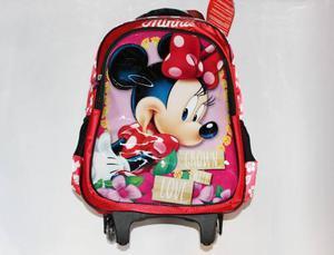 Morrales Morral Ruedas Maleta Ninas Disney Minnie Mouse