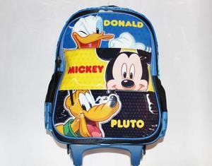 Morrales Morral Ruedas Maleta Ninos Disney Donald Mickey