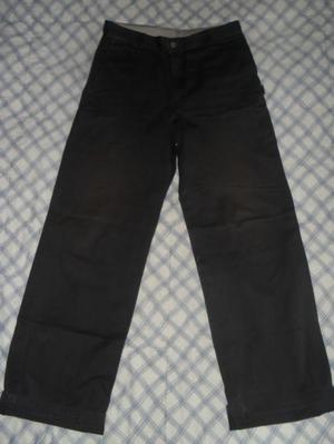 Pantalon negro en dril talla 30 clasico