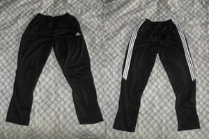 Pantalon sudadera adidas negro cremallera en los tobillos