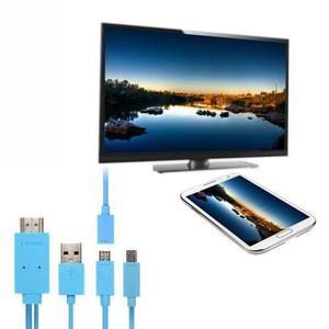 Cable Mhl 1.8m Micro Usb A Hdmi 11 Pines+ Adaptador 5 Pin -3