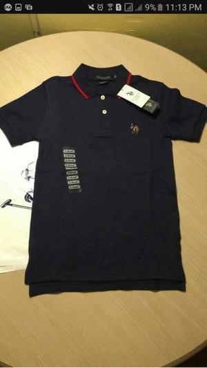 Camisas Niño Us Polo Talla 6 ORIGINAL