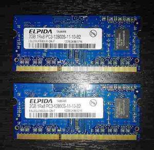 Memoria Ram Ddr3 Macbook 4gb (2x2gb) Como Nuevas!.