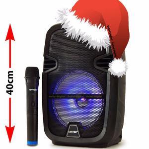 Parlante recargable 8 pulgadas con luces y microfono
