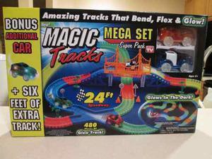 Pista Magic Tracks De 24 Ft (pies) Mega Set/3 Carros
