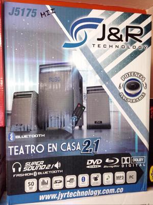 Teatro en Casa 2.1 Bluetooth Usb Fm Aux