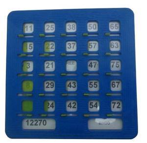 Una Tabla Plástica Para Bingo Tablas De Bingo Profesional