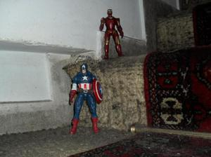 Vengadores x unidad Capitan america, hulk, iron man, thor