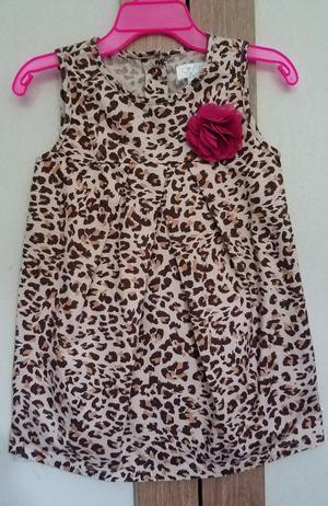 Vestido Animal Print para Niña 18 a 24 M
