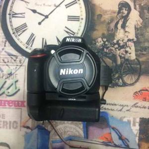 Camara Nikon D Lente  Y  Baterias Y Grip