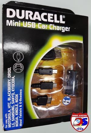 Duracell Cargador Mini Usb Carro Motorola/lg/nokia Etc.