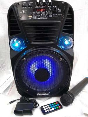 Parlante Cabina 8 Bluetooth Micrófono Inalámbrico Fm