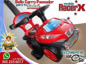 Bello CARRO PASEADOR para Tu Bebé modelo RACER, con Luces