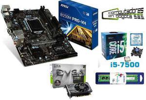 Combo Core I5 Septima + Board Msi + Gtx gb + 8gb Ddr4