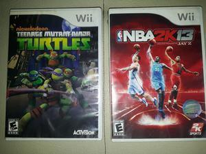 Juegos Nintendo Wii Tortugas Ninja Y Nba