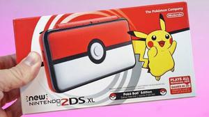 New Nintendo 2ds Xl Pokeball Nuevo Entrega Inmediata