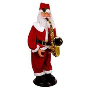 Papa Noel Con Saxofon Musical Y Baila De 1.20 Mts