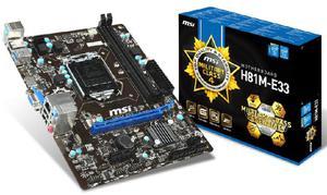 Board Msi H81m E33 Intel Lga1150 4ta Gen Con Hdmi -