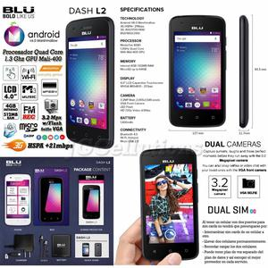 CELULAR BLU DOBLE SIM CARD ANDROID V6.0 QUAD CORE DOBLE