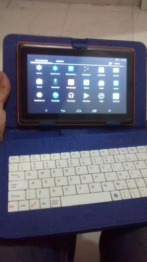 tablet con teclado y forro