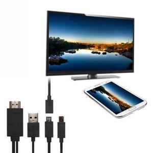 Cable Mhl 1.8m Micro Usb A Hdmi 11 Pines+ Adaptador 5 Pin -2