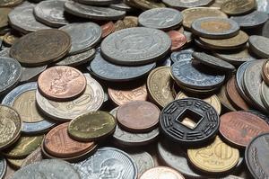 Colección de monedas de diferentes nacionalidades