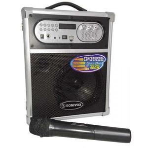 Super Cabina Parlante Portatil 400watt Bluetooh Fm Microfono