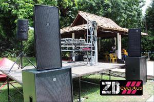 tarima y sonido para fiestas y eventos - Medellín