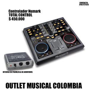 controlador dj Numark total control con interfaz de