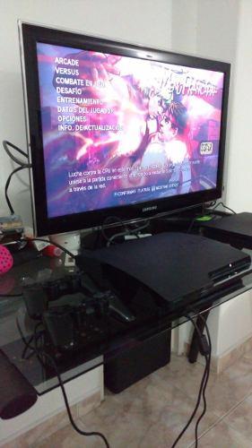 Play Station 3 Slim 120 Gb +2 Controles + 2 Juegos Fisicos