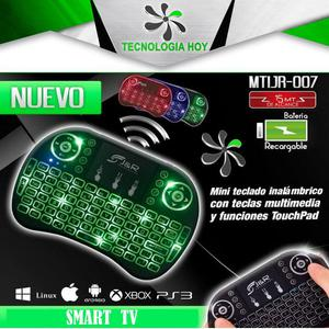 Mini Teclado Multimedia y Touch Pad Inalambrico 3 en uno JR