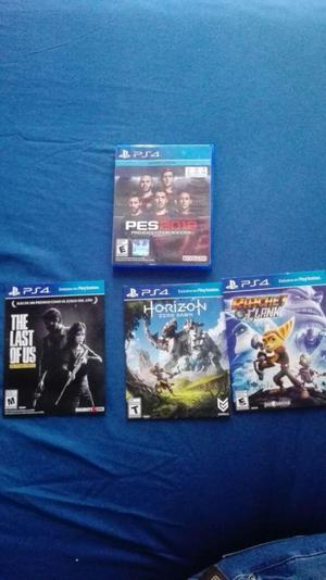 PS4 slim 500 Gb 2 controles 4 juegos