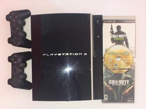 Play Station 3 + 2 Controles + 3 Juegos Call Of Duty