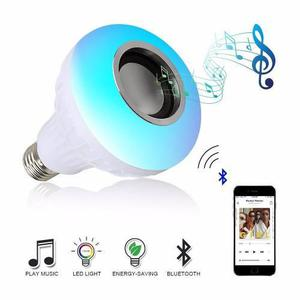 Bombillo Led Multicolor Bluetooth Parlante + Luz Blanca Fija