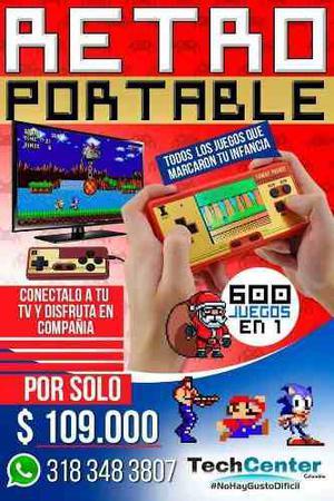 Retro Portable Con 600 Juegos Diferentes