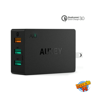 Cargador De Pared Aukey 3 Usb Qualcomm Quick Charge 3.0