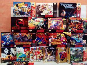 Cajas Reproducciones Plastificadas Para Juegos De Nintendo.