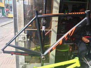 Marco Bicicleta Gw Flamma Cónico Talla S Negro Amarillo