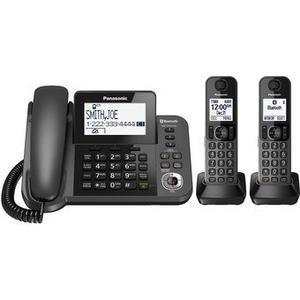 Teléfono Panasonic Kx Tgf Fijo 2 Auriculares Bluetooth