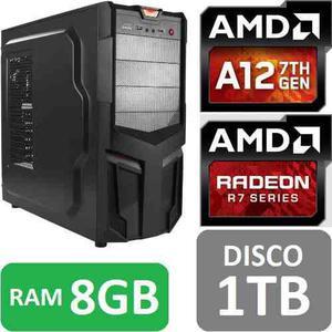 Torre Cpu Gamer A12 9800 Radeon R7 1tb 8gb Pc Juego Gratis