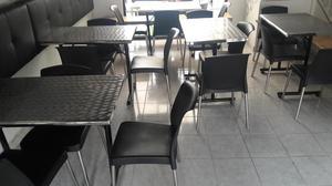 Mesas y sillas para restaurante,bar o cafeteria.