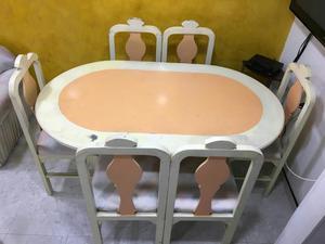 Juego de comedor cromado de 5 puestos precio posot class for Comedor 12 puestos