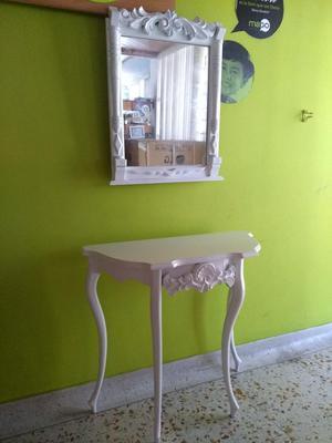Espejo y mesa pura madera posot class for Mesa espejo