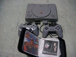 Play Station 1 Fat + Memoria + Juegos