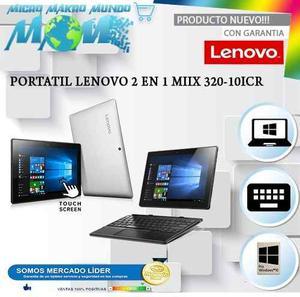 Portatil Lenovo 2 En 1 Miix icr Pantalla 10.1 Touch